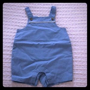 Janie and Jack Blue Baby Overalls